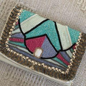 Sequin Beaded Geometric Boho Aztec Shoulder Bag